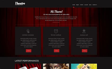 Theatre Responsive Website Template by Theater Responsive Theme 49288