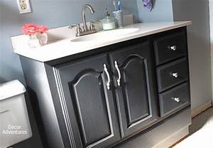 Things you didn39t know you can paint by decor adventures for Painting laminate bathroom vanity