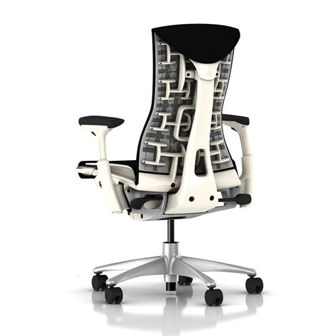herman miller embody chair black rhythm with white frame