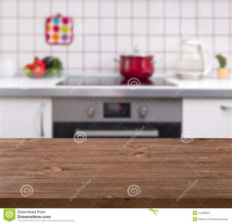 wooden table  kitchen bench background stock photo