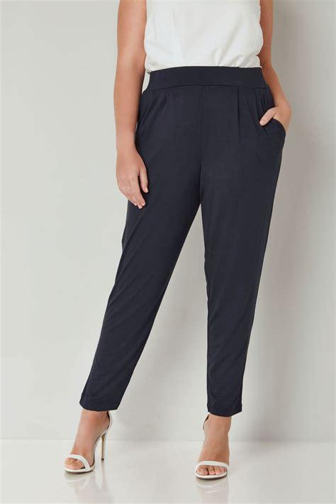 Pantalones Pinzas Con Doble Pliegue Color Azul