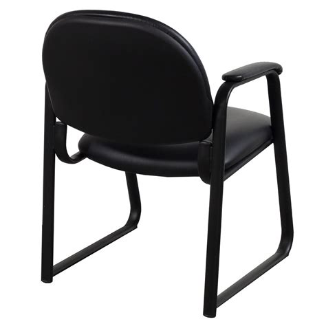 global used leather side chair black national office