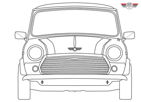 How To Draw Mini Cooper Colouring Pages