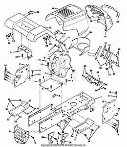 Poulan Pp125h42ja Tractor Parts Diagram For Chassis And Enclosures