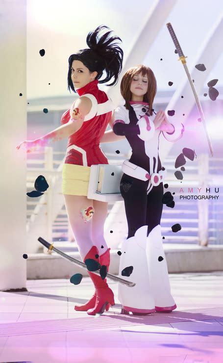 momo yaoyorozu ochako uraraka cosplay photo cure worldcosplay