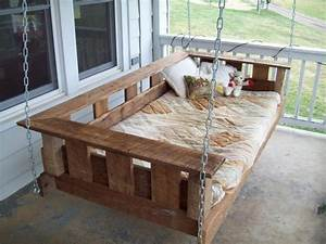 Build Hanging Porch Swing - WoodWorking Projects & Plans