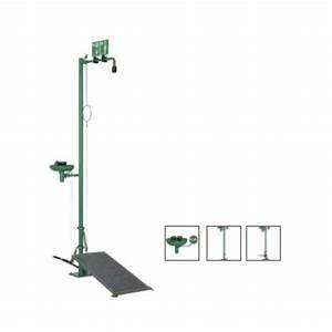 Free Standing Industrial Safety Shower  U0026 Eyewash Station