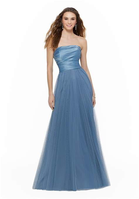 Knee Length Lace Bridesmaids Dress Style 21518 Morilee