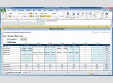 Excel Shift Schedule Template schedule template free