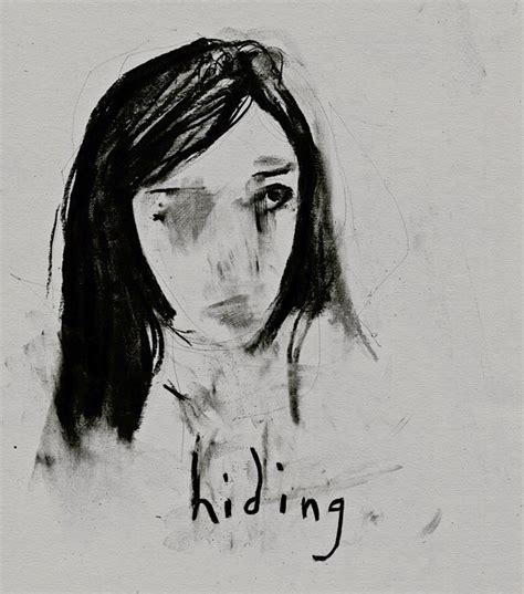 Hipster Sad Tumblr Girl Drawing