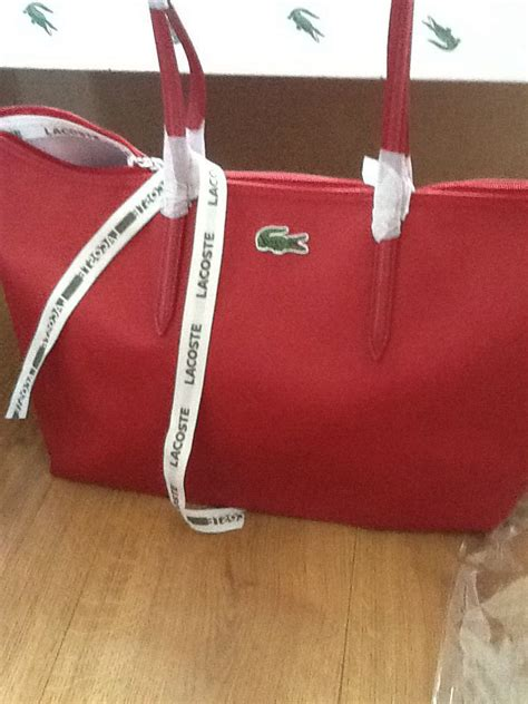 lacoste tote  red bags purses