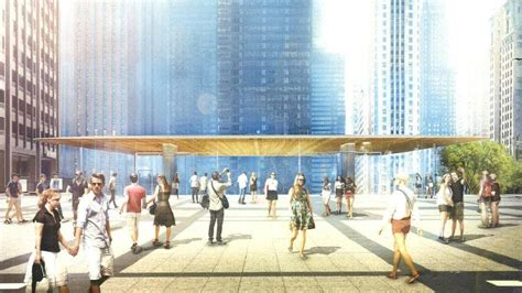 prairie futurism designs revealed for the new chicago apple store news archinect