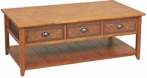 Table Basse Pin : table basse en pin et bambou ~ Teatrodelosmanantiales.com Idées de Décoration