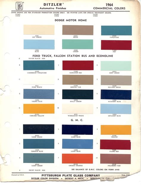 ppg color chips images