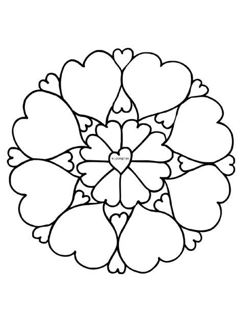 Kleurplaat Hartjes Mandala by Kleurplaat Mandala Hartjes Liefde Kleurplaten Nl