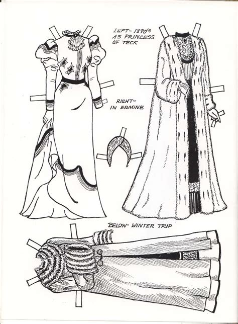 Tudor Costumes Colouring Pages