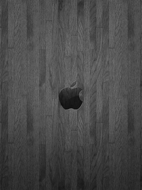 computers apple logo  dark grey oiled oak ipad