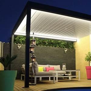 Pergola Bioclimatique Sur Mesure : pergola bioclimatique lounge sur mesure en aluminium ~ Melissatoandfro.com Idées de Décoration