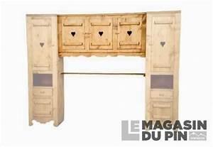 Pont De Lit 160 : l ment suspendu 3 portes en pin massif chamonix pour pont de lit ~ Teatrodelosmanantiales.com Idées de Décoration