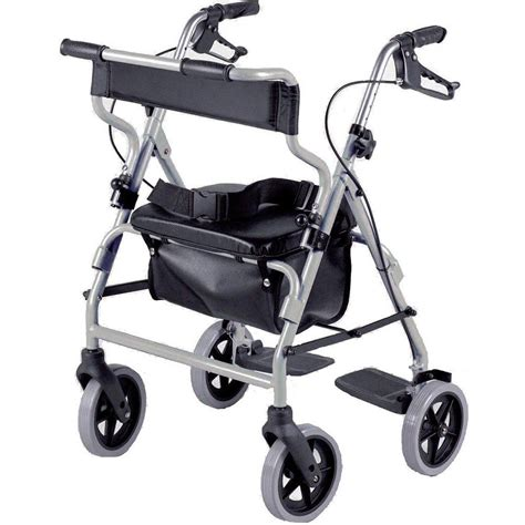 rollator with seat chair lightweight mobility walker