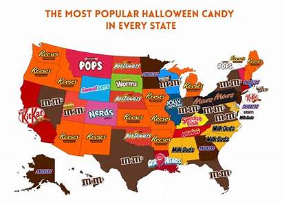 Candy Popular Halloween State Each According Did