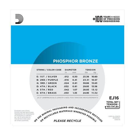 d addario ej16 phosphor bronze acoustic guitar strings