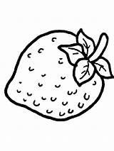 Strawberry Coloring Pages Berries Print Fruits Colors Recommended sketch template