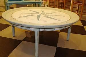 coastal chic boutique round nautical coffee table sold With round nautical coffee table