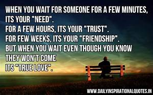 When you wait for someone for a few… ( Love Quotes ...