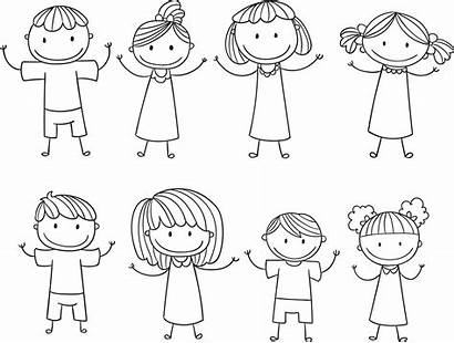 Stick Figure Coloring Drawing Children Pages Cool