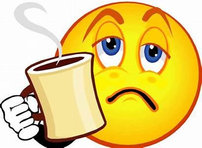 Tired Smiley Coffee Faces Emoji Morning Emoticon
