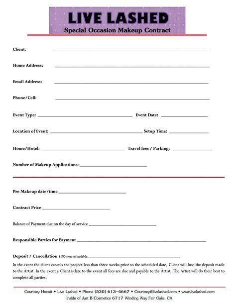 makeup artist contract form makeup consultation form sle mugeek vidalondon