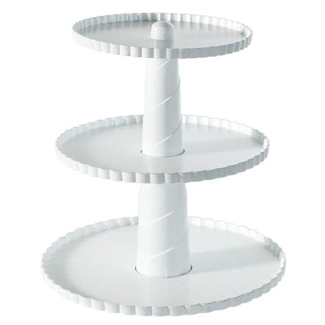 tier dessert stand  tier collapsible thicker sturdier plate rack stand  plates