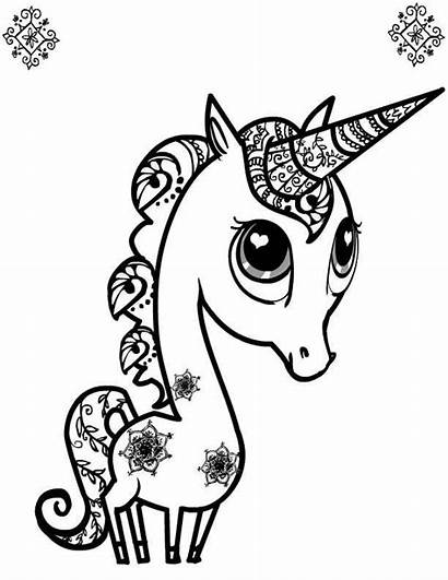Cuties Unicorn Coloring Pages Printable Colouring Animal
