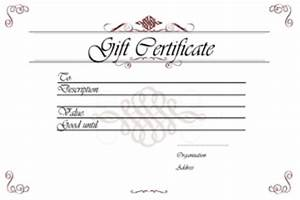 gift certificate templates printable gift certificates With full page gift certificate template