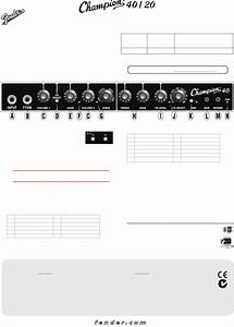 Page 19 Of Fender Stereo Amplifier Champion 20 User Guide