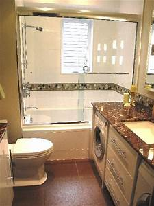 Small bathroom design with washer and dryer laundry room for Bathroom ideas with washer and dryer