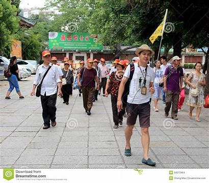 Guide Flag Male Tour China Raise Amoy