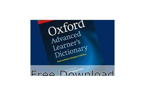 download a free oxford dictionary
