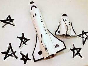 DIY Up-cycled cardboard space shuttles   Crafty Stuff ...