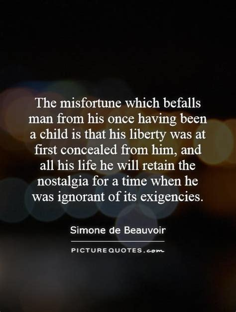 misfortune  befalls man