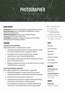cover letter setup photographer resume sample writing tips resume genius