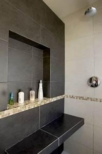 grande niche de rangement dans salle de bain italienne With niche de salle de bain