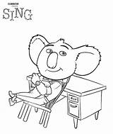 Coloring Singing Pages Children Sing Getcolorings Printable sketch template