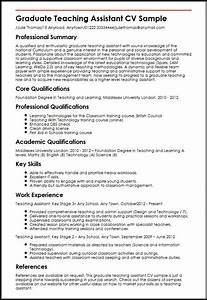 graduate teaching assistant cv sample myperfectcv With how to write a cv for grad school