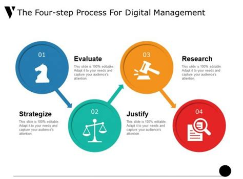 step process  digital management  icon