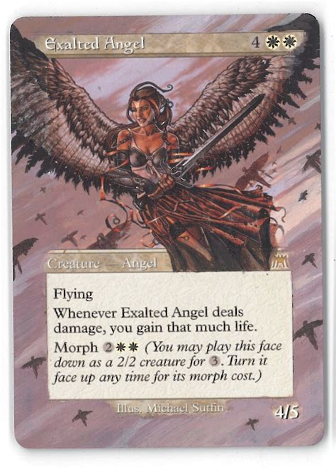 magic the gathering onslaught altered single exalted angel