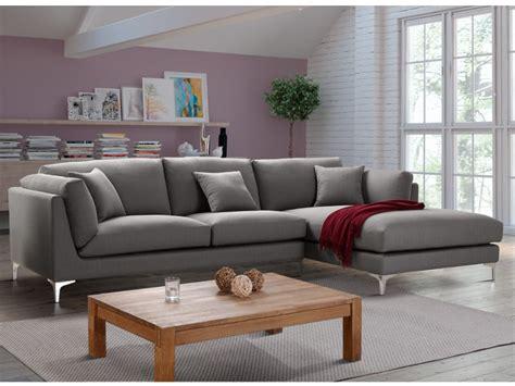 canapé d angle canapé d 39 angle en tissu coloris gris flake
