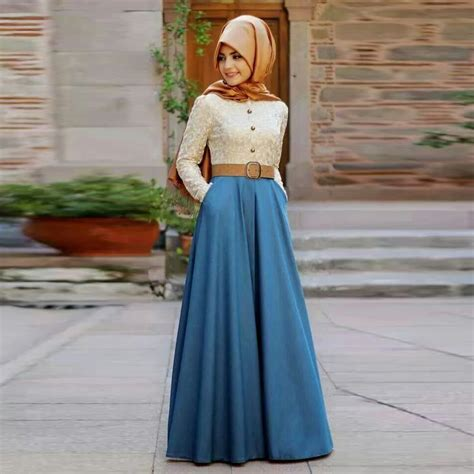 moslem maxi maxi muslim dress according to the fashion trends