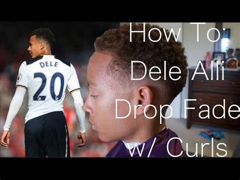 dele alli drop fade haircut tutorial youtube